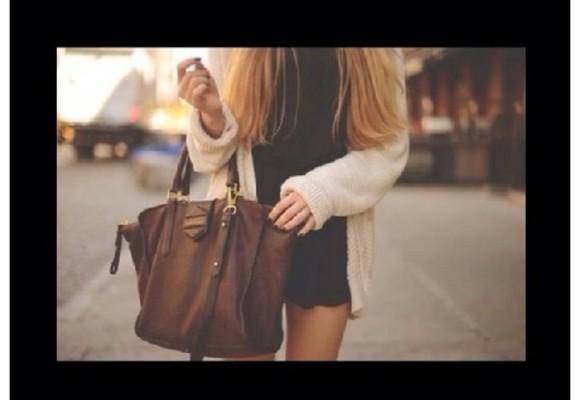 bag brown bag leather bag handbag brown leather bag shopper