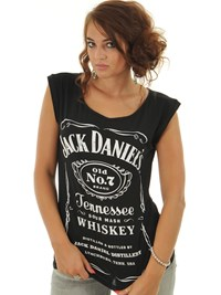 Jack Daniels Black Classic Logo Womens Tank Top | Jack Daniels | FreestyleXtreme Australia