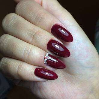nail polish nails nail accessories nail art acrylic nails dark nail polish red nails
