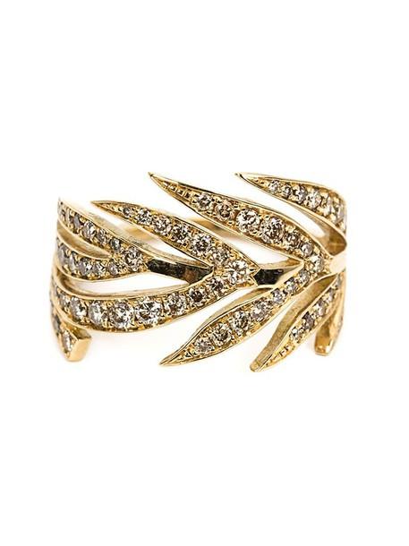 Marc Alary women ring gold grey metallic jewels