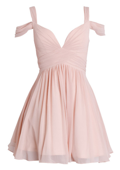 dress homecoming dress please help me! pink girly summer dress beautiful dress v-neck nude chiffon