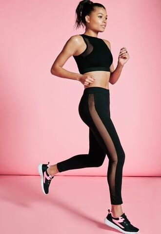 leggings mesh black leggings workout workout leggings