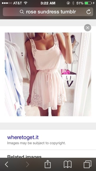 dress light pink sundress