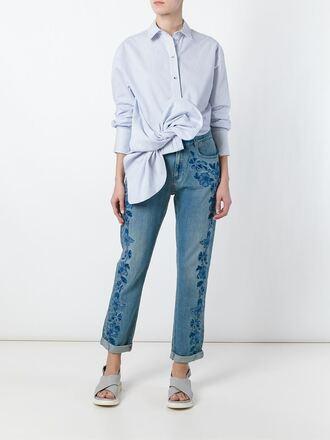 jeans stella mccartney embroidered embroidered denim