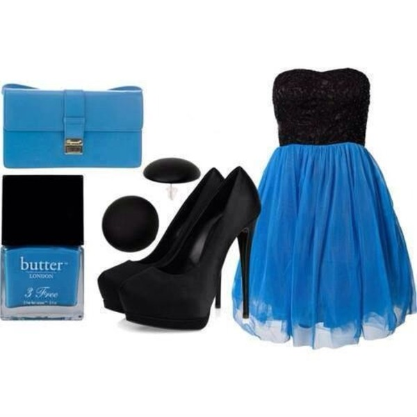 dress bag jewels nail polish shoes