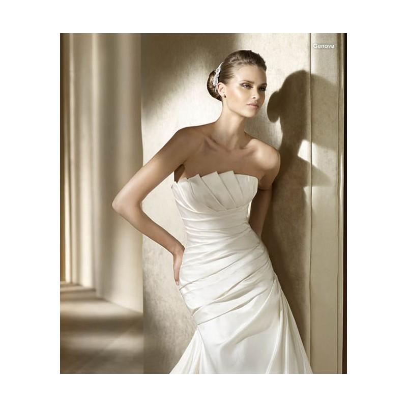 Pronovias Genova Bridal Gown (2011) (PR11_GenovaBG) - Crazy Sale Formal Dresses Special Wedding Dresses Unique 2017 New Style Dresses