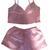 Pinky Promise Silk Short Set