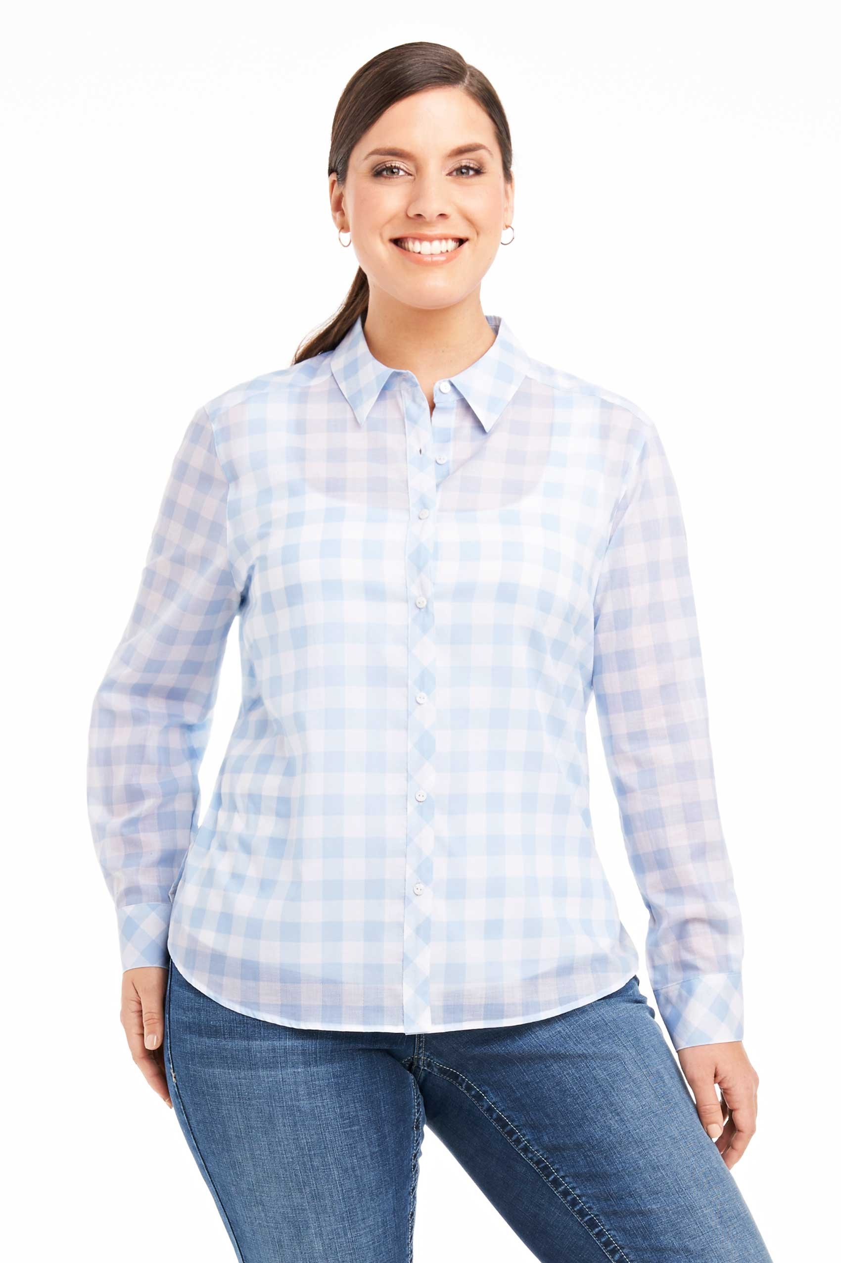 Wrinkle free foxcroft blouse lace henley blouse for Best wrinkle free dress shirts