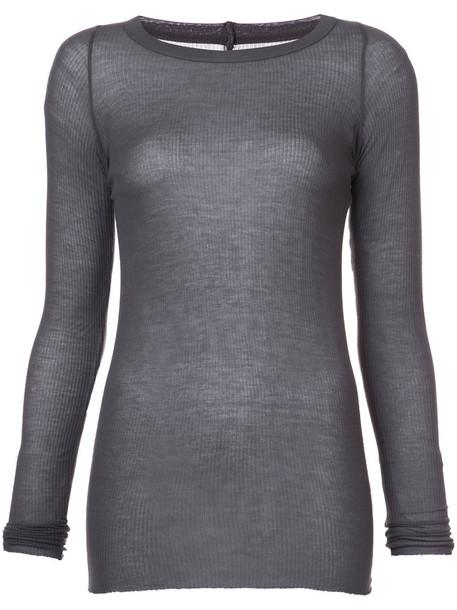t-shirt shirt t-shirt long women silk grey top
