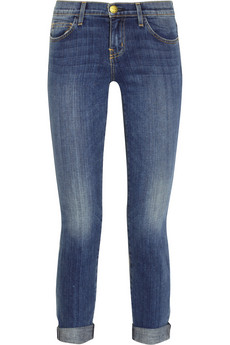 Current/Elliott The Rolled Skinny cropped mid-rise jeans - 51% Off Now at THE OUTNET