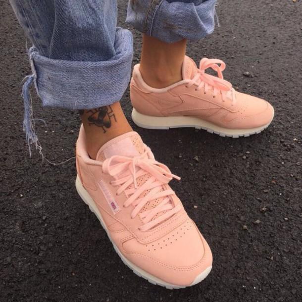 54a369f03156a shoes classic Reebok light pink pastel pink pink