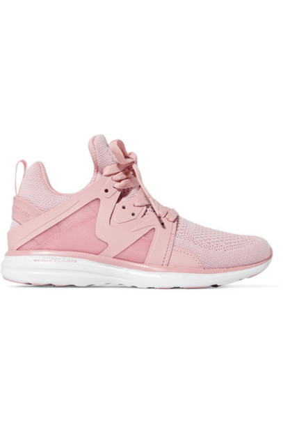 mesh sneakers blush shoes
