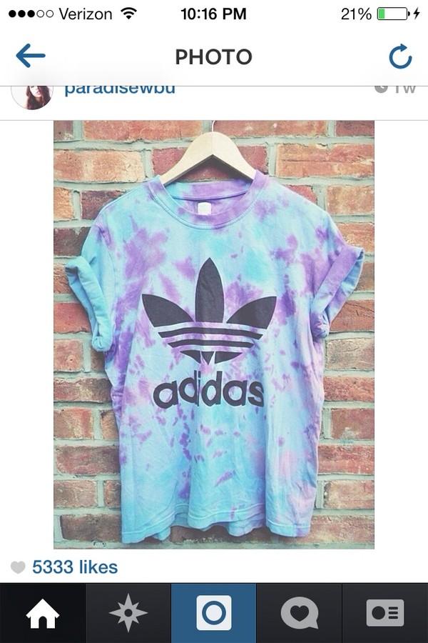 shirt adidas adidas shirt tie dye sportswear