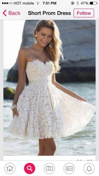 dress white dress flowers dress short dress short white dress