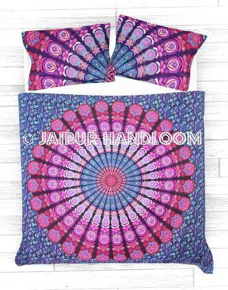 home accessory bedding duvet covet set mandala cushions boho bedding hippie bedding pink