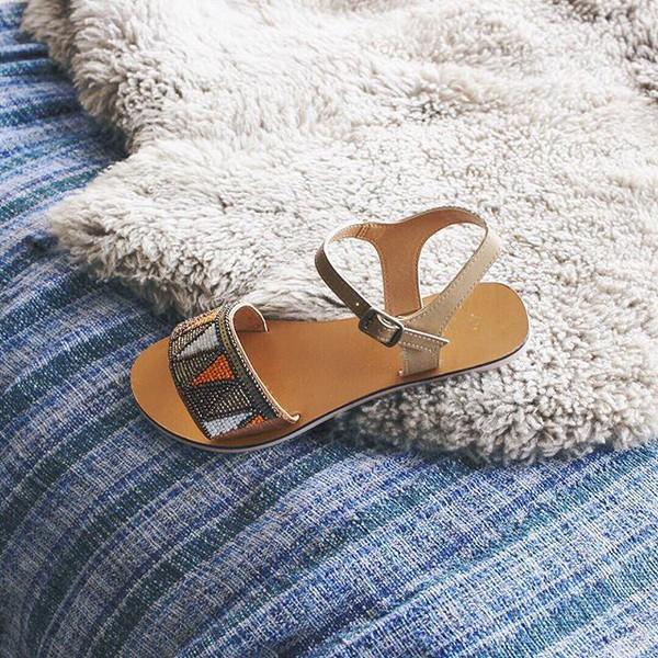 shoes sandals beaded sandals trendy cute sandals qupid