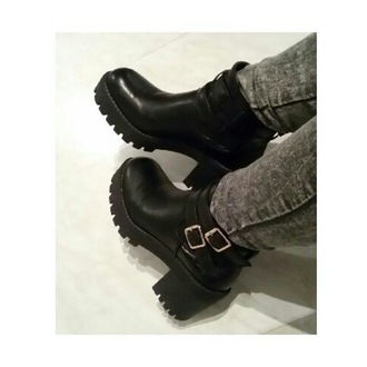 shoes grunge grunge boots boots rock style sexy love them ankle boots
