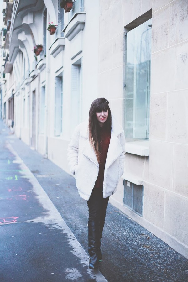 fringe and frange shoes sweater coat