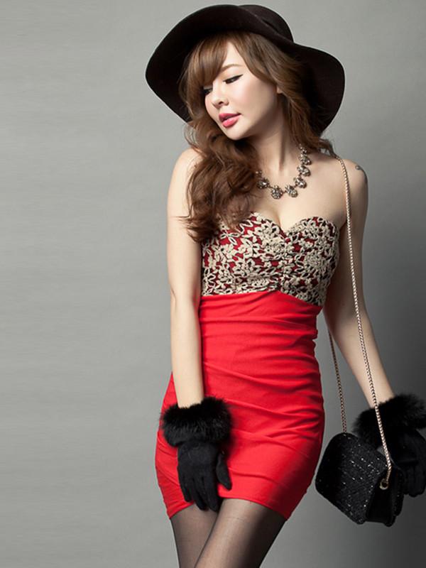red dress beaded dress prom dress sexy dress club dress prom dress
