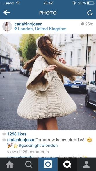 beige dress sweater dress oversized sweater knitwear