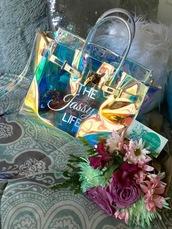 bag,purse,holographic,iridescent,transparent  bag,clear,handbag