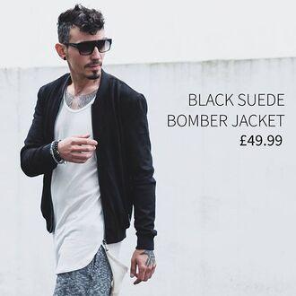 jacket maniere de voir bomber jacket suede black sergiu coat 36683