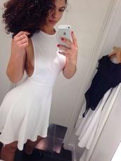 dress,white backout