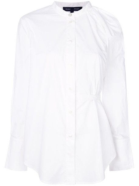 Proenza Schouler shirt button down shirt women white cotton top