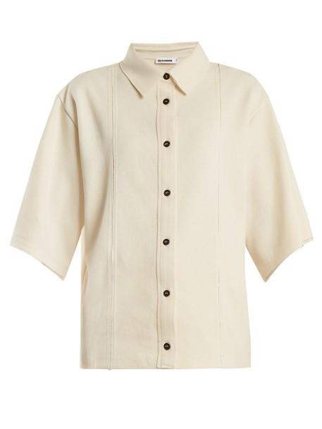 Jil Sander shirt cotton cream top