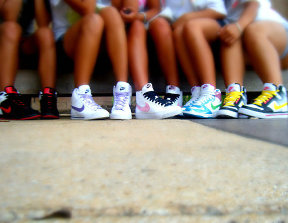 blazer white shoes yellow black pink red nike blazers green orange