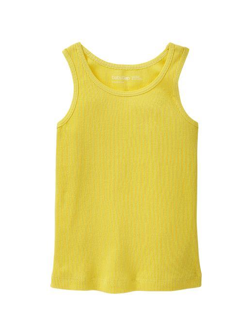 gap ribbed tank - aurora yellow