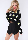 Wild Daisy Crop Sweater