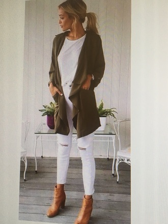 sweater cardigan grey sweater white jeans jeans