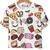 T-Shirt mit Fastfood Muster, wei
