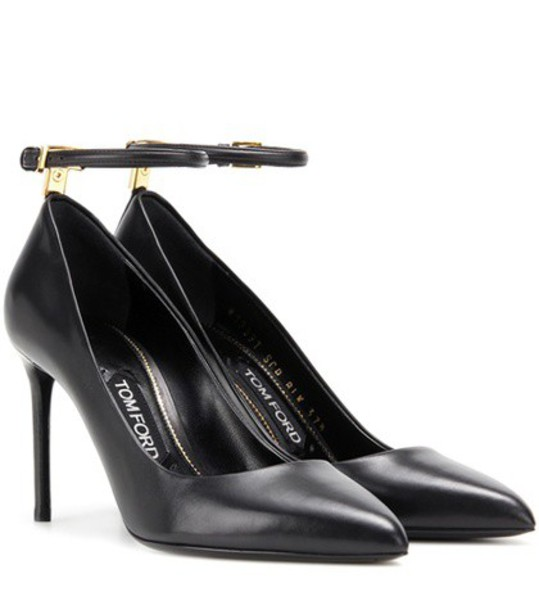 Tom Ford pumps leather black shoes