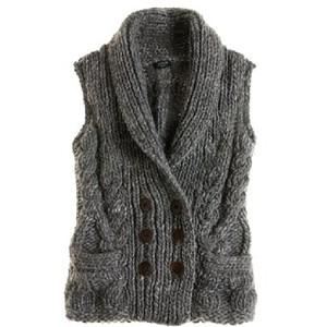 c2ca4752a Handknit shawl-collar cable vest - J.Crew - Polyvore