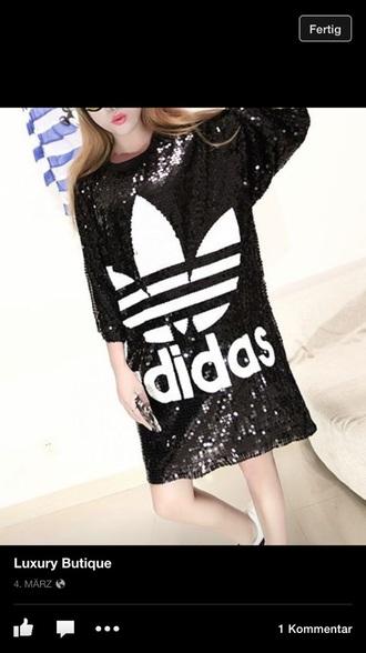 dress adidas shirt adidas originals glitter dress