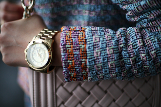 tina sizonova blogger gold watch