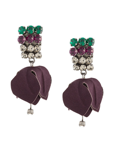 MARNI metal women earrings cotton brown jewels