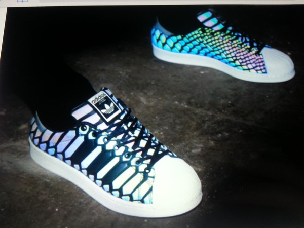 Adidas Multicolor Snakeskin Shoes
