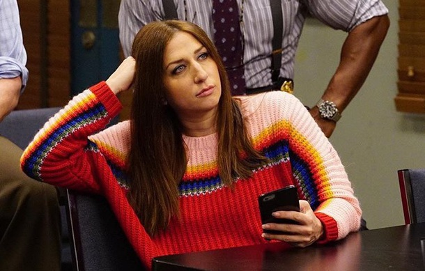 sweater gina linetti rainbow brooklyn nine nine
