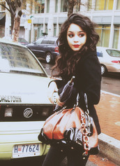 vanessa hudgens,bag,blouse,jacket