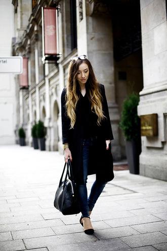 flirting with fashion blogger coat casual handbag