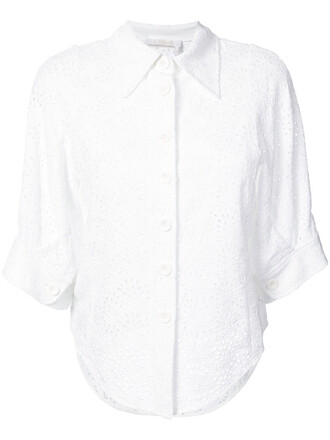 shirt women white top