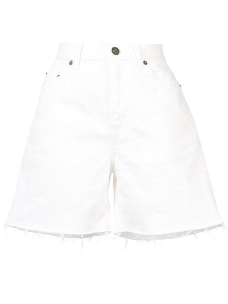 Saint Laurent shorts women white cotton