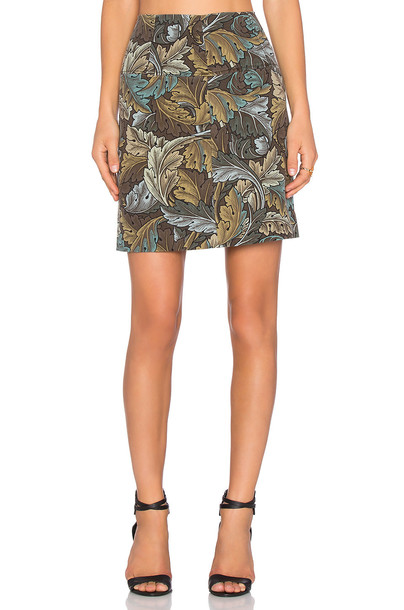 Marc by Marc Jacobs skirt mini skirt mini green