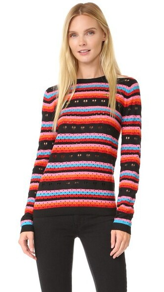 jumper rainbow love lace sweater