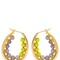 Color block oval hoop earrings