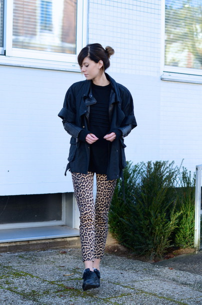 lovely by lucy blogger jacket pants leopard print