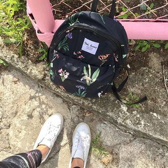 bag yeah bunny floral cute romantic travel trip print backpack pattern